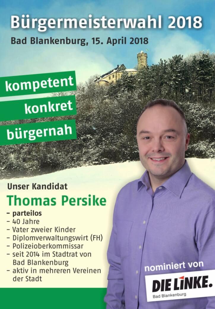Flyer Bürgermeister Wahl Bad Blankenburg